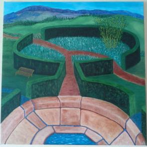 Jardin IV ©2014 60×60 cm